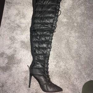 Thigh High Nylon Boots
